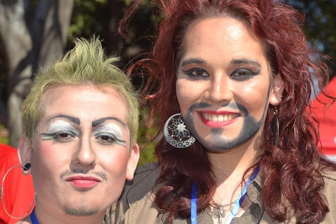 Damian San Martín y Magdalena Fabbri, activistas de OTD Chile.