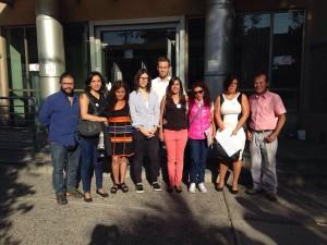 Miembres del FDS acompañando a la familia de Marcelo Lepe