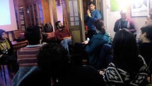 Algunos de los asistentes en el debate tras la película