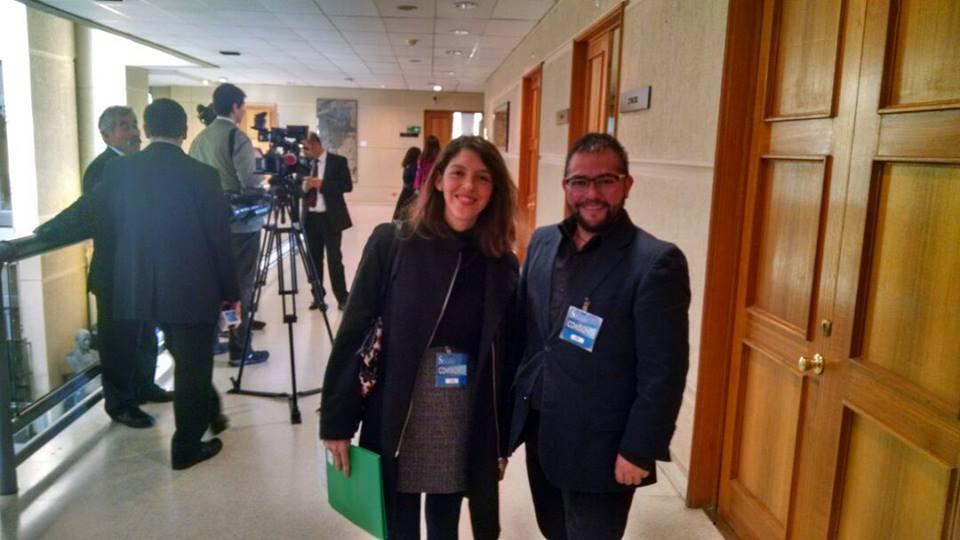 La asesora jurídica de OTD Chile, Gabriela Sanzana, y le vicepresidente, Franco Fuica.