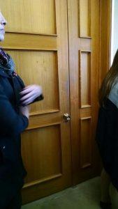 La puerta que estuvo cerrada para lxs activistas...