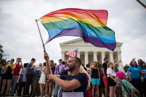 Una celebración en Washington después de que la Corte Suprema de Estados Unidos fallara a favor del matrimonio igualitario Credit Zach Gibson/The New York Times