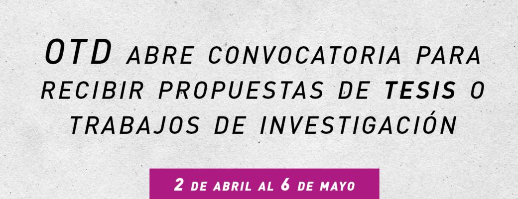 OTD Chile Convoca A Tesistas Para Su Unidad De Investigación