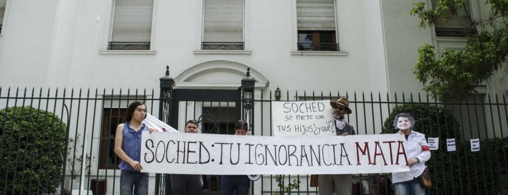 Activists Manifested By Transphobic Words Of The Chilean Society Of Endocrinology