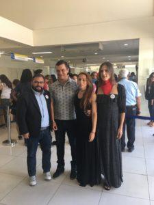 Franco Fuica, junto a Valeria Pinto y Kris Córdova.