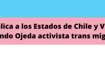 Arta Pública A Los Estados De Chile Y Venezuela, Fernando Ojeda Activista Trans Migrante