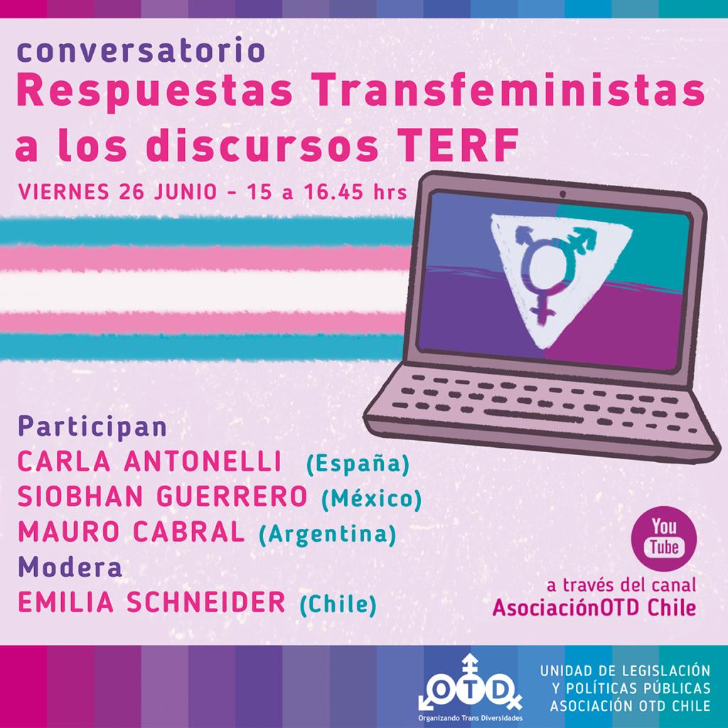 Respuestas transfeministas a los discursos TERF con Carla Antonelli, Siobhan Guerrero y Mauro Cabra