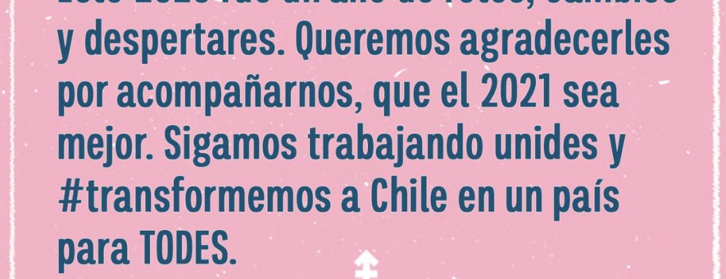 Sigamos Trabajando Unides Y Transformemos A Chile En Un País Para TODES.
